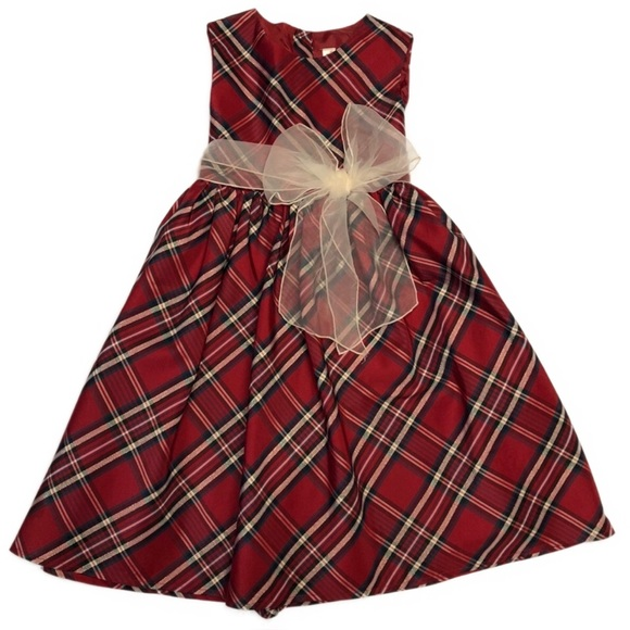 cherokee multi colored plaid christmas dress - Plaid Christmas Dress